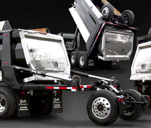 7-axle Super Dump Truck black body dumping